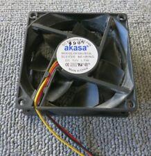 Akasa DFS802512L 12VDC 3 Pin Sleeve Bearing Computer Case Fan 80mm x 80mm x 25mm