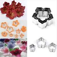 3PCS Cute Flower Cookies Cutter Pastry Biscuit Cake Decorating Mold Mould Tools