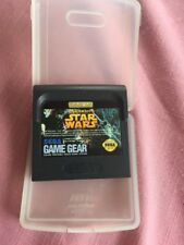 Sega Game Gear Star Wars Cartridge By US Gold Japan Made Clear Case 1993