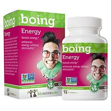 Energy Boing with Ginseng by BioTerra Herbs (1g, 60 Capsules) Herbal Supplement