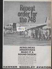 AEROLINEAS ARGENTINAS HAWKER SIDDELEY 748 PROPJET 1961 AD