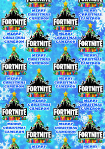 FORTNITE Personalised Christmas Gift Wrap - Fortnite Epic Games Wrapping Paper