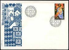 Liechtenstein 1972 NATALE FDC primo giorno Coperchio #C 16592