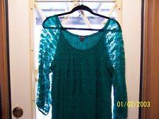 Ladies New Directions Green Lace Dress-Size 14