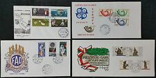 Group of 4 Malta FDC First Day Covers 1960s & 1970s, Valetta Cancels Inc Europa