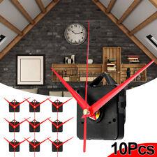 10x Red Long Hand Wall Quartz Clock Spindle Movement Mechanism Repair Tools DIY