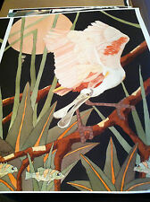 """DAN GOAD """"ROSETTE SPOONBILL WITH DRAGON FLY # 2""""-GECLEE PRINT"""