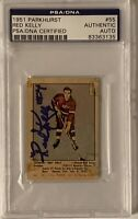 1951 1952 PARKHURST Red Kelly AUTO PSA DNA AUTOGRAPH #55 HOCKEY