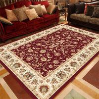 Traditional Oriental Area Rug Velvet Floral Carpet Runner Floor Mat Non-slip