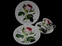 Roy Kirkham Redoutè Roses 1 dreiteiliges Kaffeegedeck und 1 Schale
