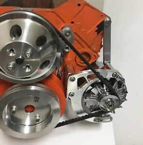 Small Block Chevy Low Mount Alternator Bracket Short Water Pump SBC SWP EWP 350