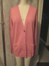 NEW! Tory Burch Madeline Cardigan Size Small Melon Jaipur Pink Button Down