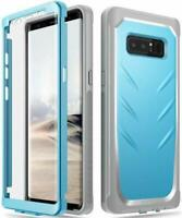 Poetic For Galaxy Note 8 Hard Case,Dual Layer Shockproof Protective Cover Blue