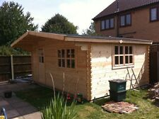 OSLO LOG CABIN - 5m x 4m - 34mm - Summer House, Garden Building, Home Office