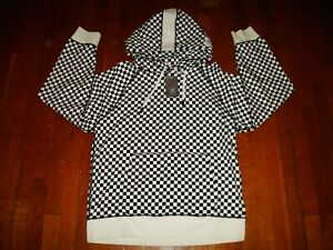 Gap Fit x Ovadia + Checkered Hooded Sweater/ Extra Large/ Black & White