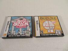 Nintendo DS Big Brain Academy & Brain Age Educational Games 3DS Compatible