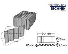 1500 Stück Wellennägel 24,4x10mm für Wellennagler CF15 Bostitch Prebena 5C-WN15