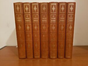 LA SACRA BIBBIA FRATELLI FABBRI EDITORE completa - 7 VOLUMI anno 1963