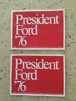 Vintage 1976 President Ford Lot of 2 Bumper stickers