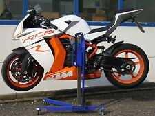 MOTO CAVALLETTO CENTRALE PER KTM rc8 bluelift MOTO CENTRAL STAND NUOVO Padock-Stand
