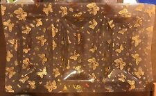 Vintage Georges Briard Triple Well Golden Butterflies on Pebbled Glass - Euc
