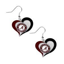 ALABAMA - SWIRL HEART LOGO - DANGLE EARRINGS - BRAND NEW - CCP-ER-245-11