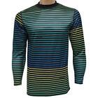 Quiksilver STEEP Top Mens Size S Small Black Stripe Base Layer Shirt Snow Ski