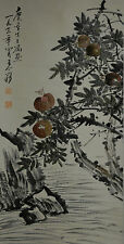 Vintage Chinese Pomegranate Garden Wall Hanging Scroll Painting