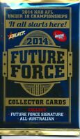 2014 afl select future force 5x single sealed packets-in stock