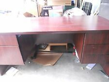 LOCAL PICKUP Executive Computer desk w/ drawers either side HANGING FILE DRAWER