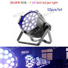 18x18w 6in1 Led Zoom Par Light 10-60 degree RGBWA UV led par 64 light 12pcs