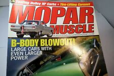 MOPAR Muscle Magazine SEPTEMBER 2007 Testing Holley HP Carbs B-Body Blowout!