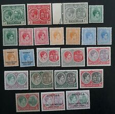 1920- St Kitts Nevis Anguilla lot of 23 KGV and KGVI stamps Mint