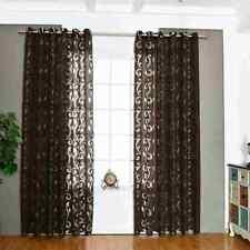 2x Gardine Vorhang Voile Schlaufenschal Dekoschal transparent Gardinenschal