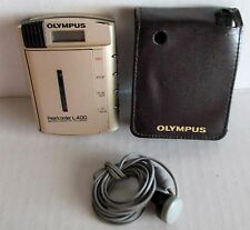 Olympus Pearlcorder L400  Handheld Cassette Voice Recorder Player Case & Earbud