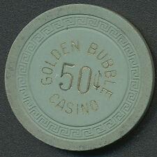 Golden Bubble Casino Gardnerville NV 1st Issue $.50 Cent Chip 1945