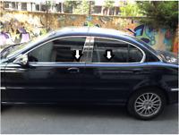 Jaguar X-Type Saloon 2001-2009 Chrome Windows Frame Trim 4 Door 4Pcs S.Steel