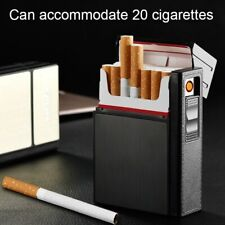 NEW Cigarette Case Box and USB Rechargeable Flameless Lighter Gift Outdoors