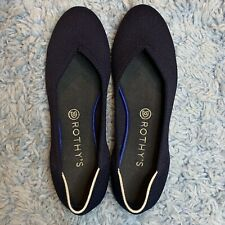Rothys Shoes Round Toe Flats Maritime Navy Blue Size 10