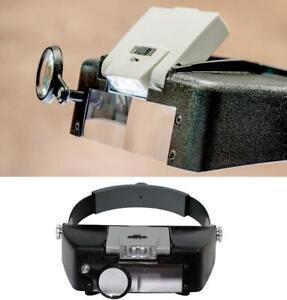1Pcs MG81007-A1 Illuminated 10X Multi-Power LED Head Magnifier Reding Hot