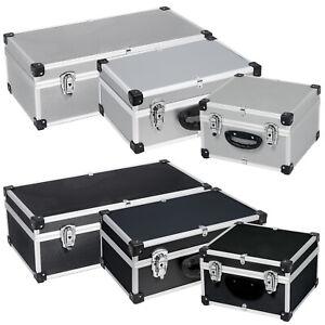 DJ CD-Koffer Alukoffer für 40 / 60 / 80  CD's + Schlüssel DJ Case Box Tragegurt