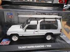 Simca matra Talbot rancho SUV combi 1980 blanco con tabla de surf Altaya Ixo 1:43
