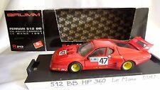 BRUMM 1/43 FERRARI 512 BB CH. POZZI-FRANCIA #47 ANDRUET - 24H LE MANS 1981 R213