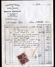 """BOURGES (18) PNEUS / PNEUMATIQUES """"Maurice MABILAT"""" en 1937"""