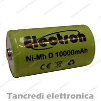 Pila Batteria ricaricabile Ni-Mh NiMh torcia D 1,2V 10000mAh 10Ah torcione