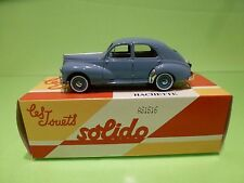 SOLIDO PEUGEOT 203 - LIGHT BLUE 1:43 - GOOD IN BOX
