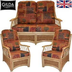 GILDA REPLACEMENT CUSHIONS / COVERS FOR CANE WICKER CONSERVATORY FURNITURE