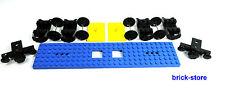 LEGO CHEMIN DE FER / TRAIN VOITURE SET / 6x28 BLEU PLAQUE / 2 x tampon, 4 x axes