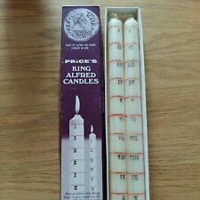 More details for early original vintage boxed prices king alfred s clock  candles/ lights.