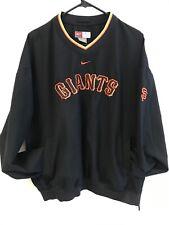 Nike Pullover Windbreaker Men's XL Black Lightweight SF Giants MLB Baseball